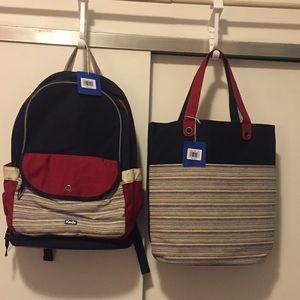Keds large back pack & tote set new !